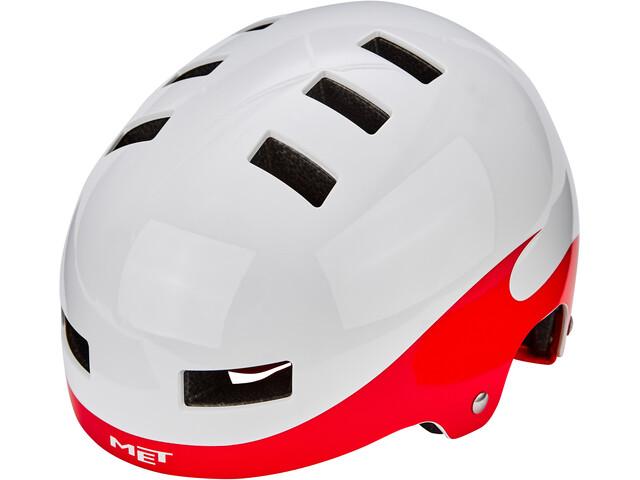 MET Yo-Yo Helmet Barn white/red flames